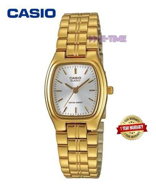 Casio Original LTP-1169N-7A Gold White Ladies Watch LTP-1169N LTP-1169N-7AV Malaysia