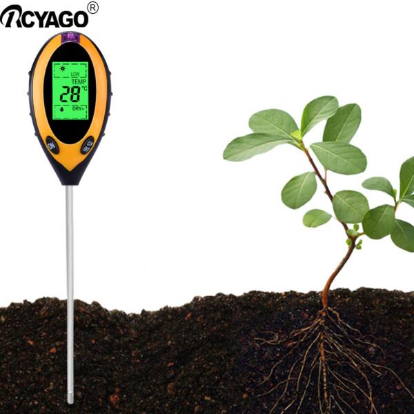 Rcyago 4 Trong 1 Kỹ Thuật Số Máy Đo Độ Ẩm Đất PH Meter Nhiệt Độ Độ Ánh Sáng Mặt Trời Tester