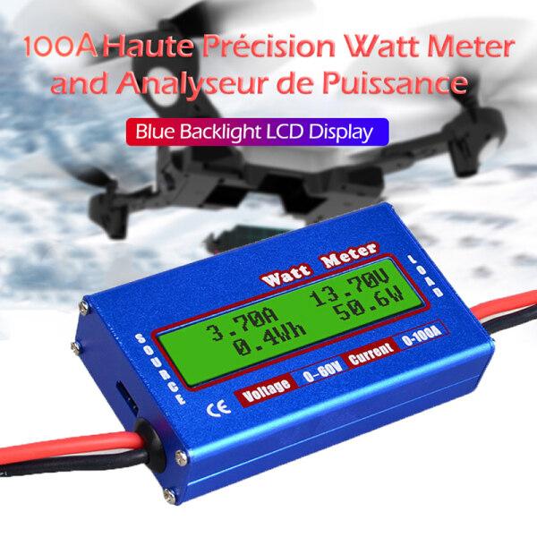 Wattmeter Màn Hình LCD Kỹ Thuật Số Máy Đo Công Suất Chính Xác Cao RC Watt Meter Bộ Cân Bằng Cân Bằng Điện Áp Pin Sạc Công Cụ
