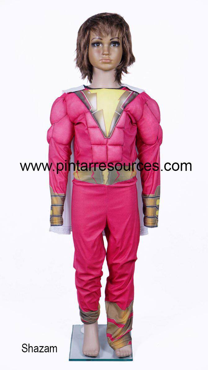 Cosplay Shazam Super Hero Costume toys for girls