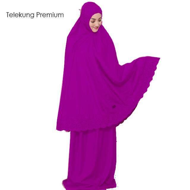 Telekung Aleena Embroidery Lace Cotton Premium