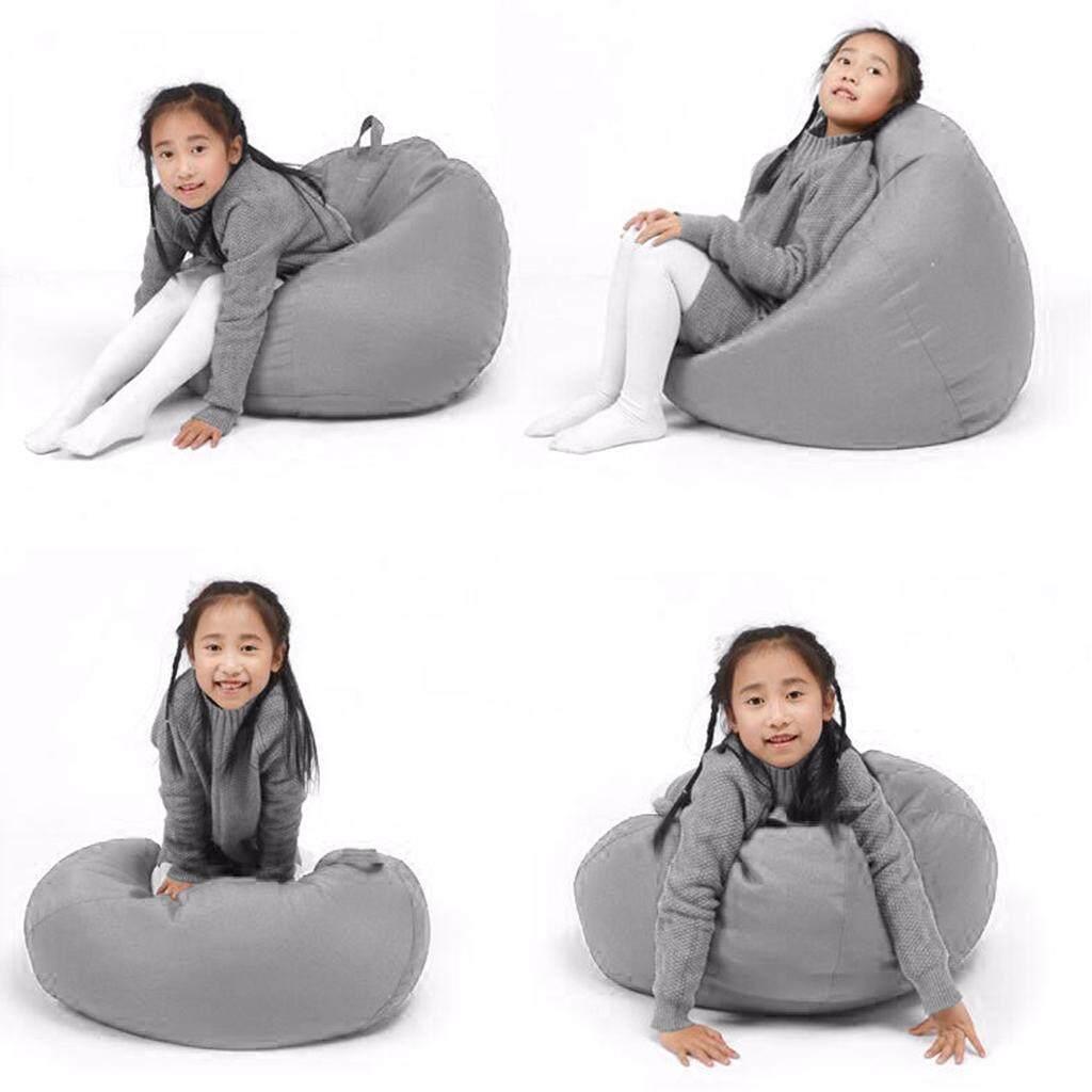 BolehDeals Kids Plush Toy Storage Cover Kids Beanbag Chair Toy Bag Organizer