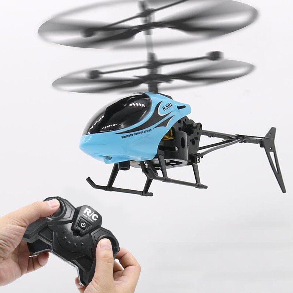 Hồng Ngoại RC Điều Khiển Từ Xa Cảm Ứng Đồ Chơi RC Mini 2CH Gyro Điều Khiển Từ Xa Máy Bay Trực Thăng Drone