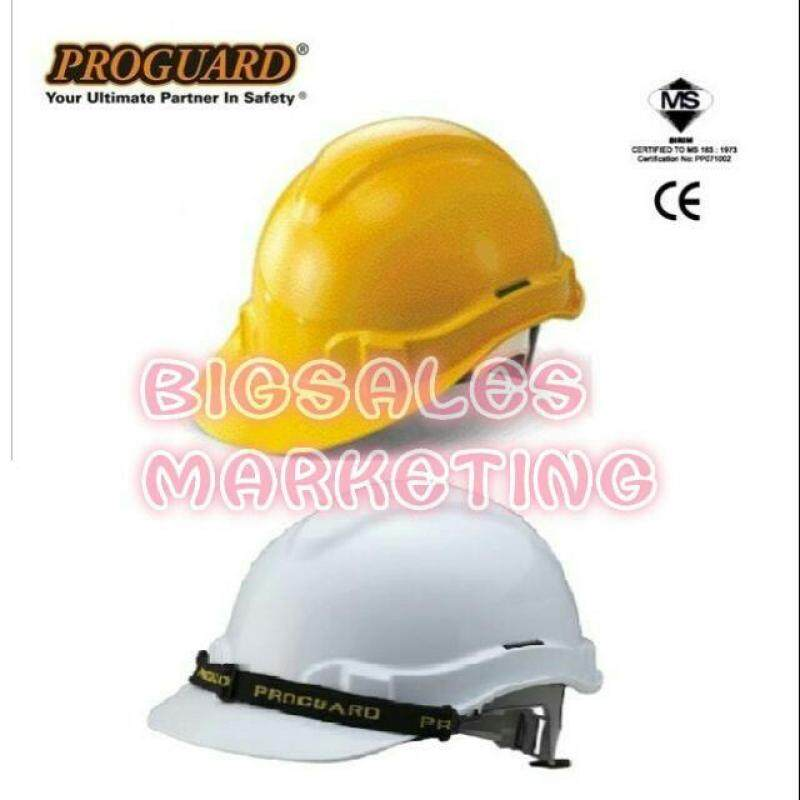 PROGUARD SIRIM Industrial Safety Helmet Worker Protection Yellow / White