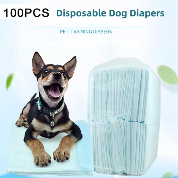 100 Cái/bộ Tã Huấn Luyện Chó Cưng Vải Không Dệt Thoáng Khí Thấm Nước Dùng Một Lần Con Chó Tã, Thích Hợp Cho Chó Nhỏ