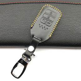 2016 Praise Leather Car Key Case Fob Hood Fit For 2015 2016 2017 Honda Civic Crv Crad V Accord Pilot Shell Protector 4 Buttons