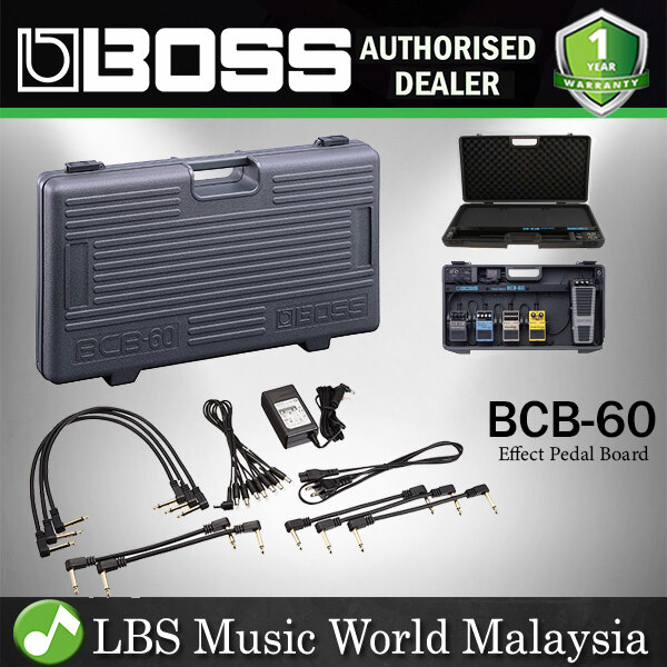 Boss BCB-60 Pedal Board Guitar Effect Case Lightweight with Onboard Adapter to Power Up 7 Pedals (BCB60) Malaysia