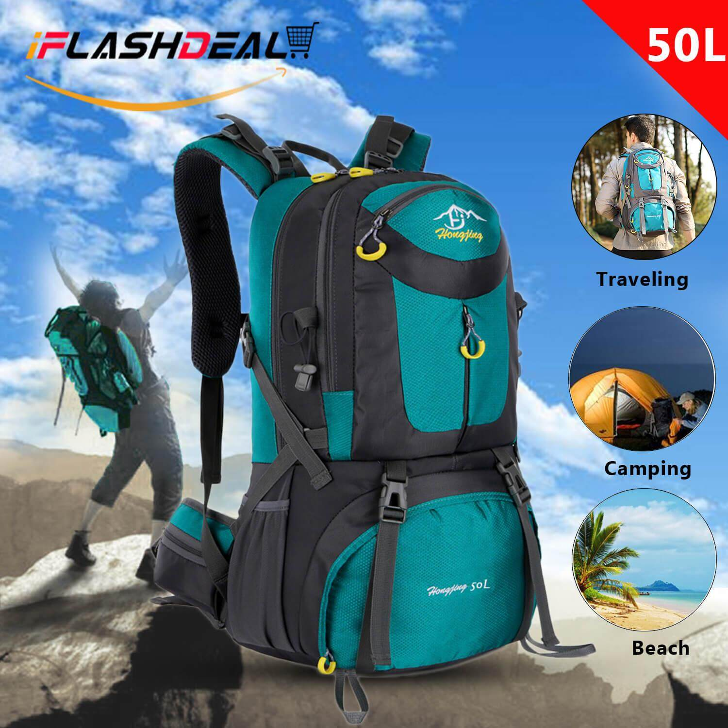 Iflashdeal Outdoor Hiking Backpack Sport Camping Travel Shoulder Pack Bag Water Resistant Mountaineering Climbing Backpacking Trekking Bag 50l By Iflashdeal.
