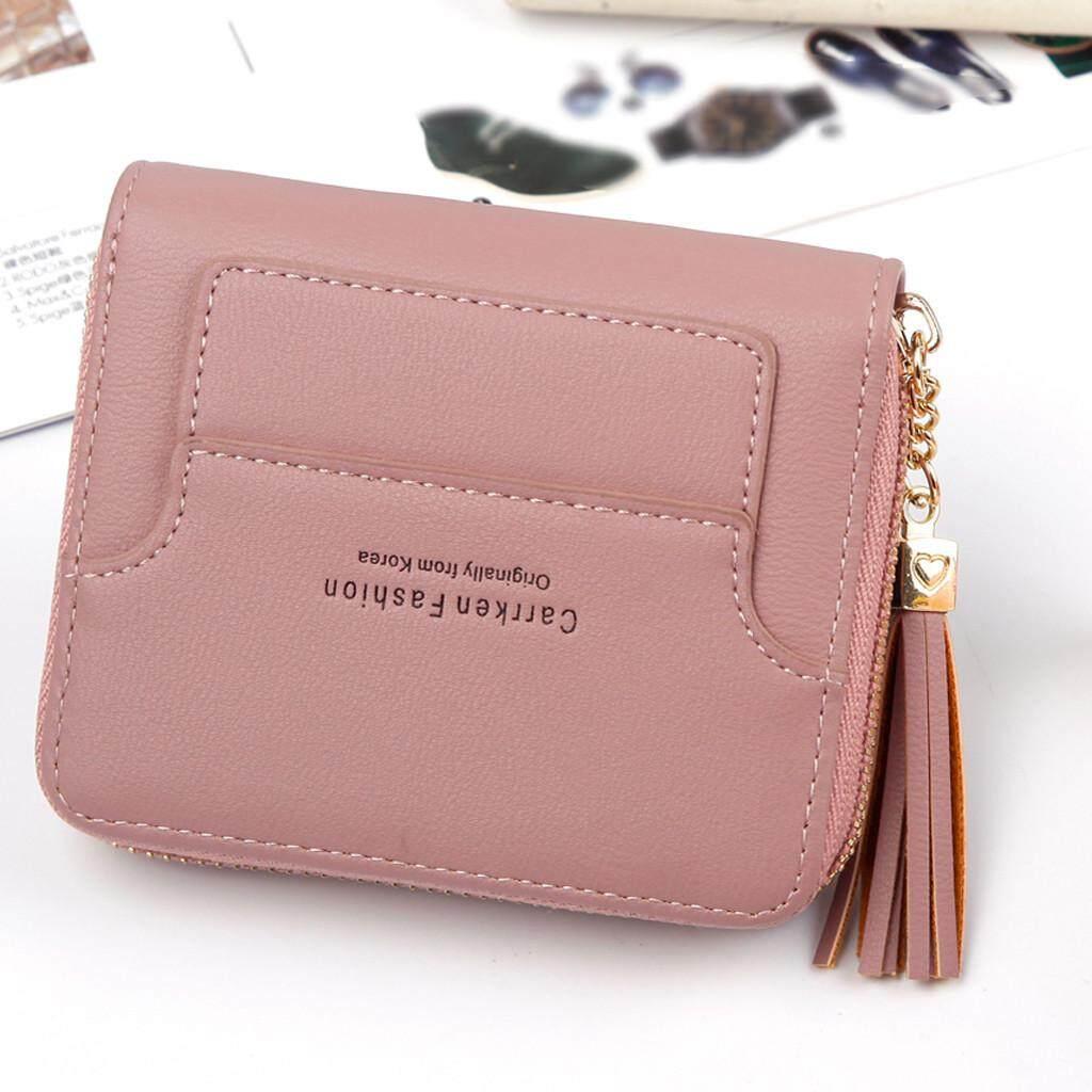 Besfashionstore ฟรีผู้หญิงสั้นแฟชั่นสไตล์ Mini ซิปพู่กระเป๋าใส่เหรียญกระเป๋าเก็บบัตรกระเป๋ากระเป๋าผู้หญิงกระเป๋ากันน้ำ By Marionshop.