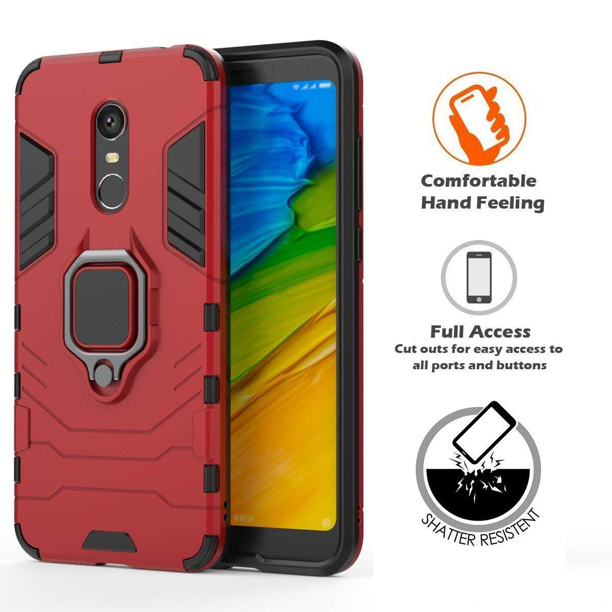 For Xiaomi Redmi 5 Plus Case, Shockproof and Anti-Fall Adjustable 360 Degree Rotating