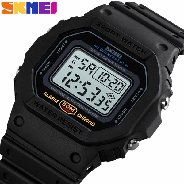 SKMEI Mens Watches Top Brand Luxury LED Digital Electronic Clock Fashion Men Business Waterproof Sports Watch Malaysia