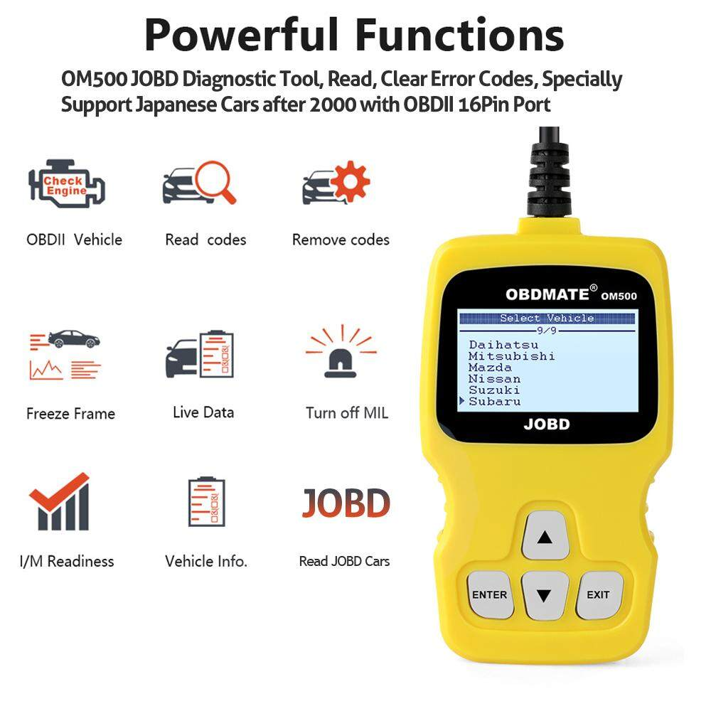Obd2 Scanner Check Engine For Toyota For Honda For Mazda Professional  Japanese Car Diagnostic Tool Autophix OM500 OBD Automotive Scanner Auto  Scan