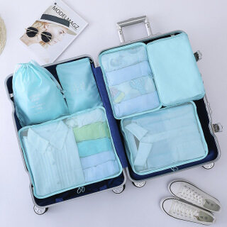 Cái bộ Chiếc Bộ Túi Vải Chéo Đựng Đồ Du Lịch Tại Nhà, Túi Hoàn Thiện Quần Áo Hành Lý In Hình thumbnail