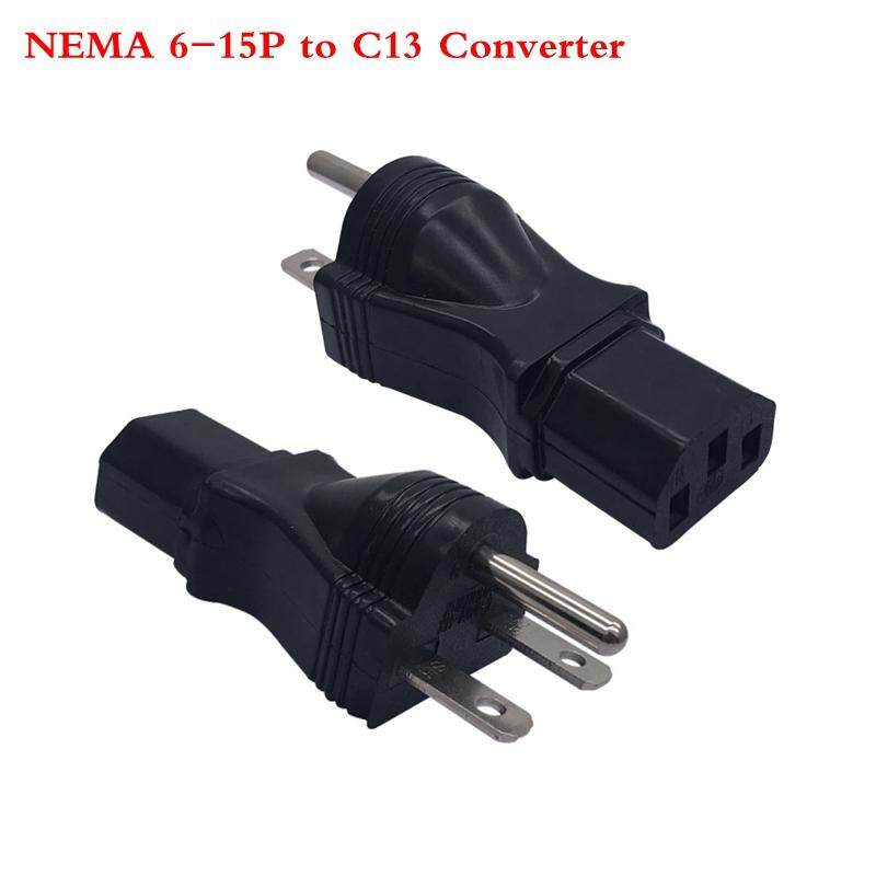 US to IEC 320 C13 Power Converter Adaptor,NEMA 6-15P Male to C13 Female Industrial Power Plug UPS/PDU Cabinet Socket 10A 250V