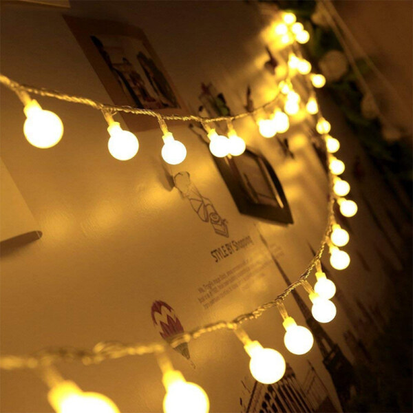 Bảng giá Dây Đèn LED Hình Cầu Vòng Hoa Thần Tiên Chrismtas Bóng Đèn Đèn Trang Trí Dây Cổ Tích Để Trang Trí Tiệc Cưới Ngày Lễ