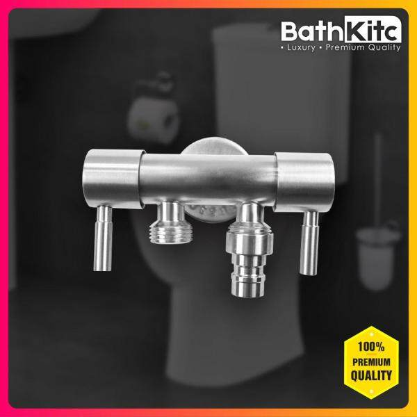 BATHKITC Hot item Modern design Premium Quality Stainless Steel 304 Bathroom / Laundry Two Way Tap