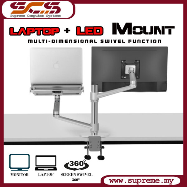 LED ARM with Laptop Arm together / Laptop LED Mount / Monitor ARM/ Laptop Mount Malaysia