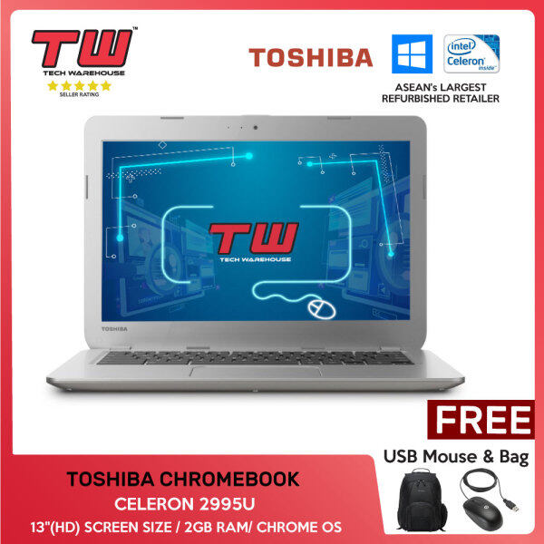 💥💰TECH DEAL 💥💰 TOSHIBA CHROMEBOOK /CELERON 2995U/ LAPTOP/ 13(HD) / 2GB RAM /TECH WAREHOUSE Malaysia
