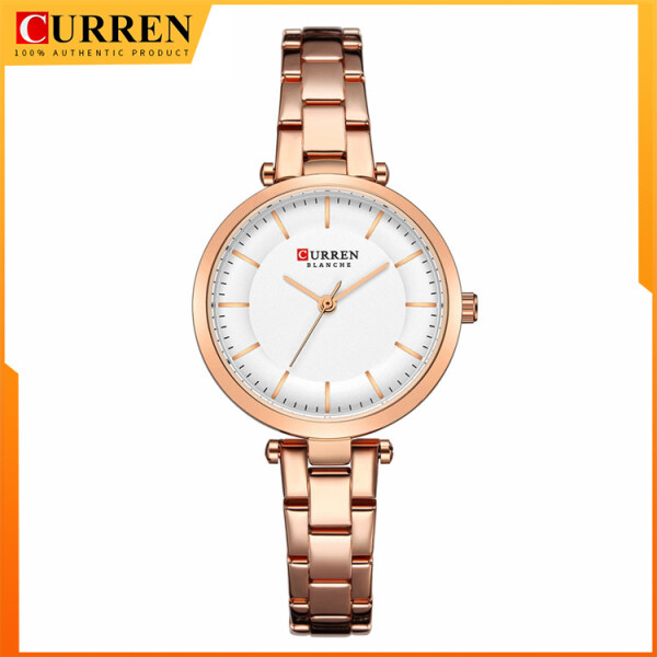 CURREN Women Watches Luxury Metal Bracelet Wristwatch Classy Fashion Quartz Clock Female Stainless Steel Dress Watch 9054 Malaysia