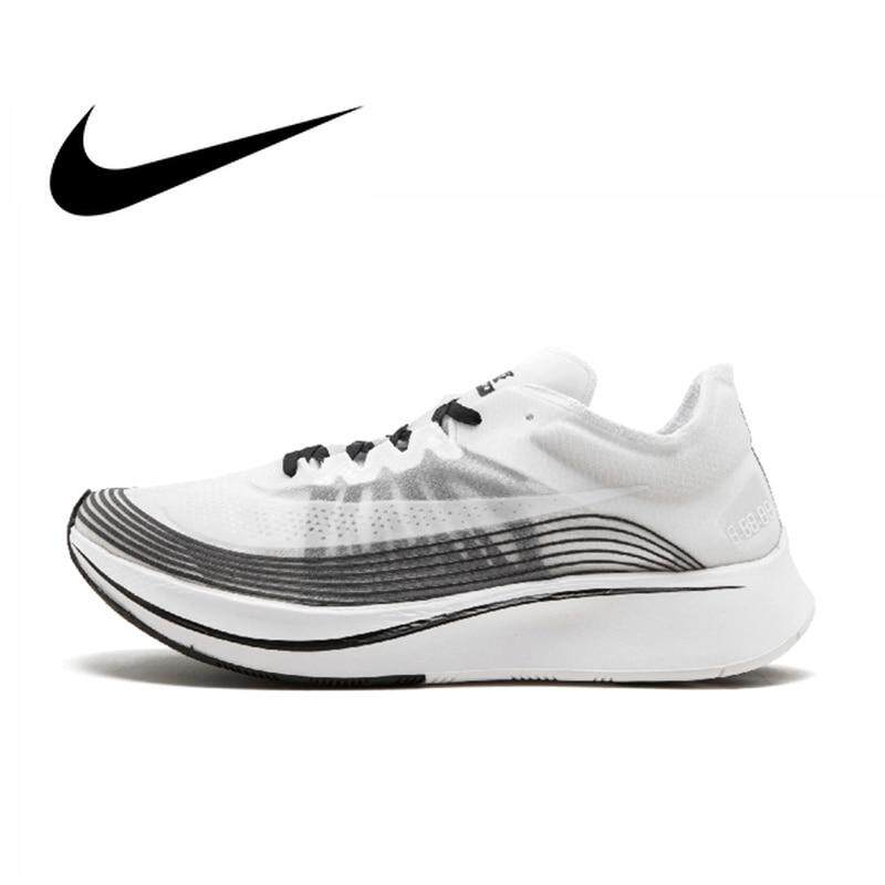 Nike_Lab Zoom_Fly SP 4% Pria Berlari Sepatu Sport Sepatu Sneaker Luar Ruangan Sepatu Pria Menyerap Udara Designer 2018 Produk Baru AA3172-101