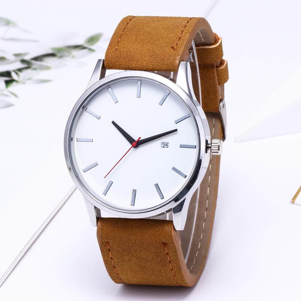 Timemall Watches for man women Korean style Fashion Simple Elegant Leather Watchband Quartz Wristwatch Malaysia