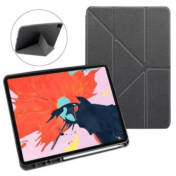 Bảng giá Vỏ Ốp iPad Pro 12.9 \ 11 \ Vỏ 2020 Đánh Thức Thông Minh/Ngủ Chất Liệu Da PU Giá Đỡ Folio Gấp Ba Lần Vỏ Bảo Vệ Máy Tính Bảng Có Kẹp Giữ Bút Phong Vũ