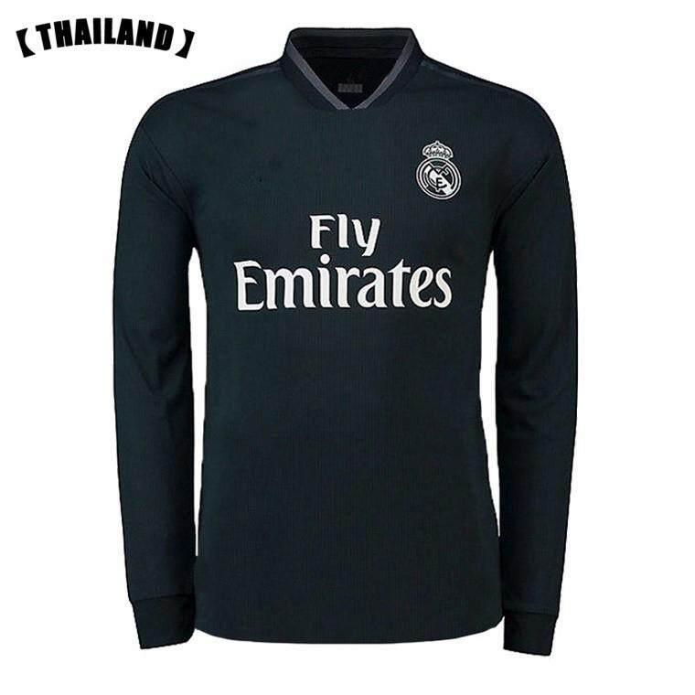 05944fff6 2019 New Season Real Madrid Long Sleeve Home And Away and 3rd Football  Jersey for the