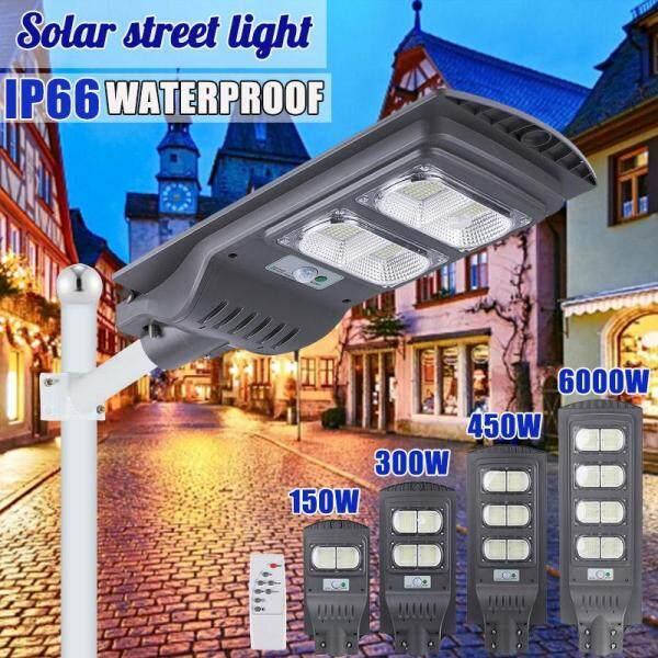 AUGIENB Waterproof Street Light Solar Panel 6500K ~ 7000K Cool White 560 LEDs High-brightness For Street/ Outdoor wall/ Garden/ Courtyard/ Street/ Walkway/ Pathway