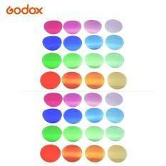 Đèn Flash Godox V-11T Bộ Lọc Màu Bộ Gel Màu Bộ Lọc 16 Màu Sắc Khác Nhau * 2 Cho Godox V1 Ảnh Dòng Đầu Tròn nhấp Nháy