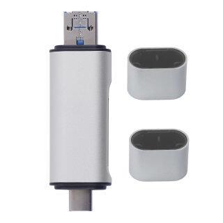 Đầu Đọc Thẻ USB Màu An Toàn Kỹ Thuật Số TF USB2.0 Micro USB Hỗ Trợ Điện Thoại Di Động OTG thumbnail