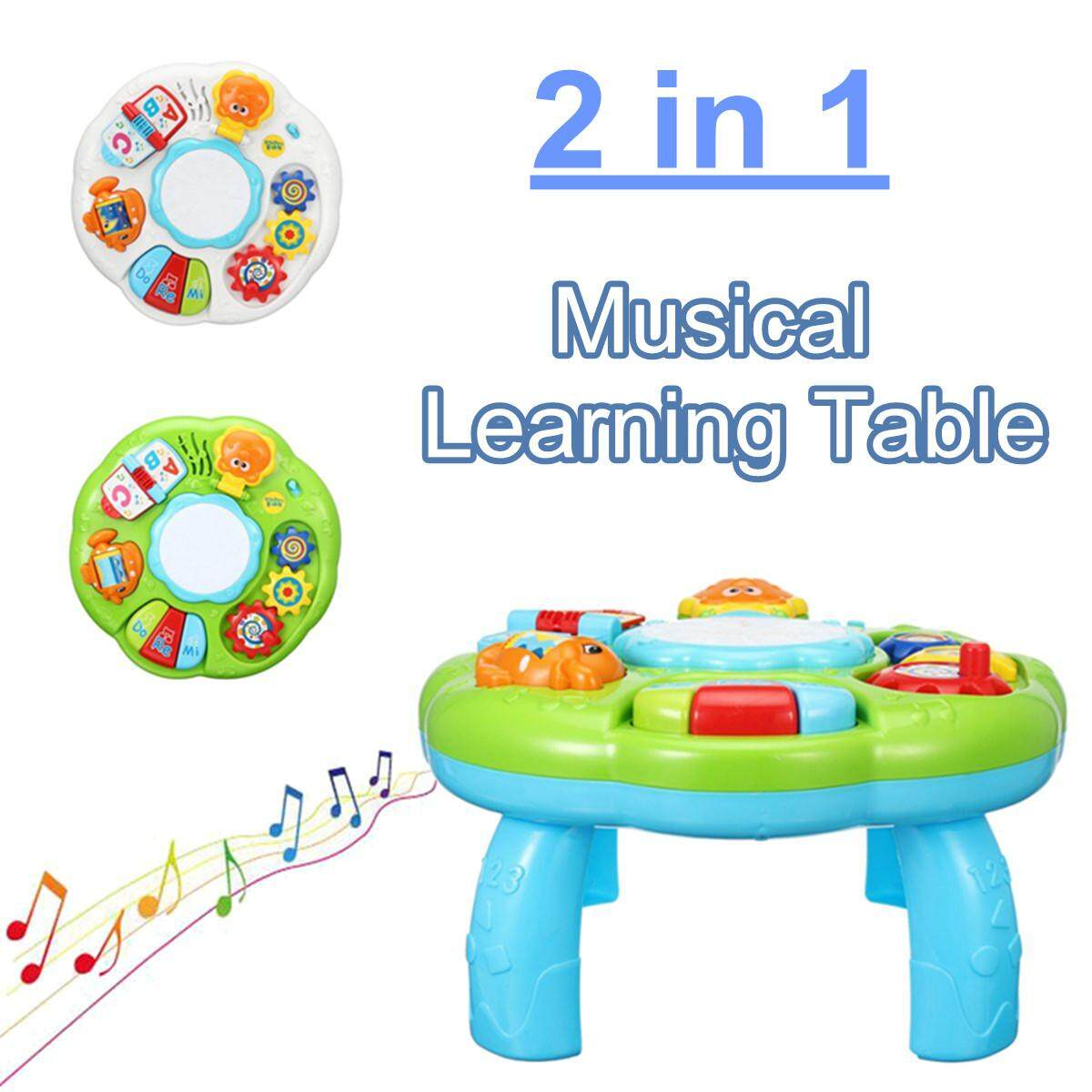 Educational Toys Piano Pat Musical Baby Activity Learning Table Game Toddler Toy #White