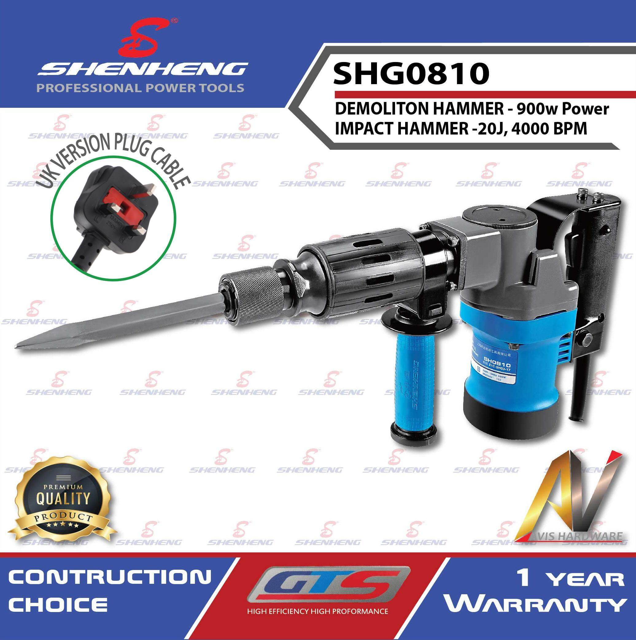 SHENHENG Demolition Hammer SHG0810 (1 Year Warranty)