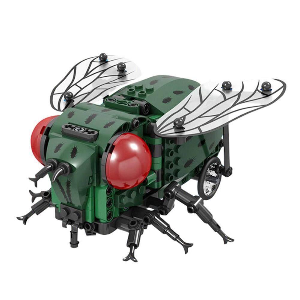 DomybestShop 1 Set Simulasi Serangga DIY Lebah Terbang Blok Bangunan Kompatibel Batu Bata Teknik