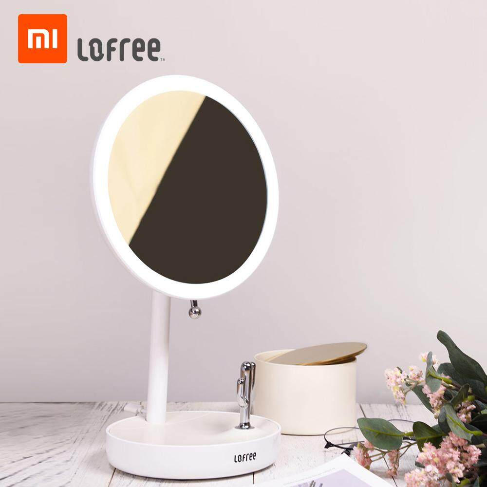 Xiaomi Youpin Magnifying Makeup Vanity Mirror With Light LED Lighted Portable USB Charging Adjustable Accommodable Hand Cosmetic Magnification Light up Mirrors for Home Tabletop
