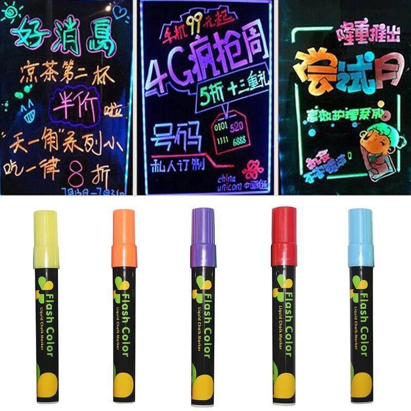 Mua 8 cái/bộ 6mm Xong Xóa Được Nhiều Màu Sắc Bút Huỳnh Quang Kính Bút Đánh Dấu Chất Lỏng Phấn Văn Phòng Phẩm