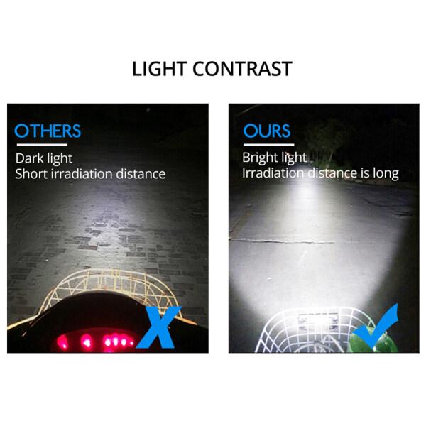 WDPlanet, Đèn Pha Phụ Trợ Kép 6500K 8 LED Chống Nước Cho Xe Máy Đèn Sương Mù, 12W