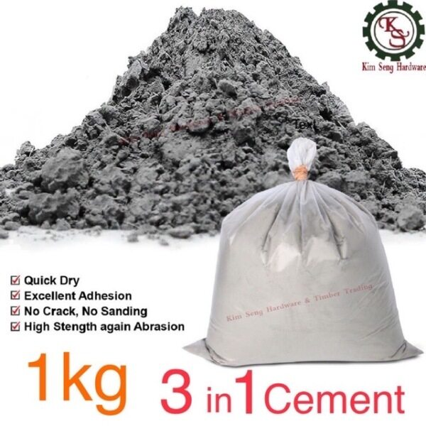 1KG 3 in 1 Cement Ready Mix Simen Sedia Campur Pre Mix Plaster KS LIVING STORE