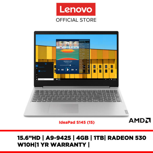Lenovo Notebook Laptop IdeaPad S145-15AST 81N30079MJ 15.6 HD/A9-9425/4GB/1TB/RADEON 530/W10H/1YR WARRANTY Malaysia