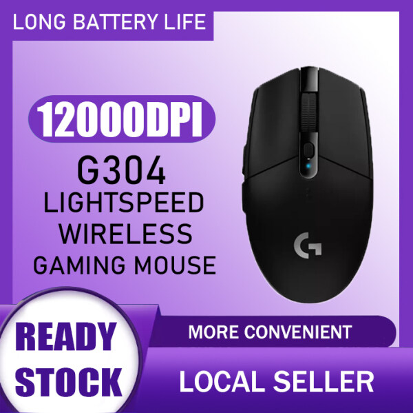 【Ready stock】Logitech G304 LIGHTSPEED Wireless Gaming Mouse Rechargeable 5 Gears 12000 DPI Adjustable 6 Programmable Buttons Optical Mice Malaysia