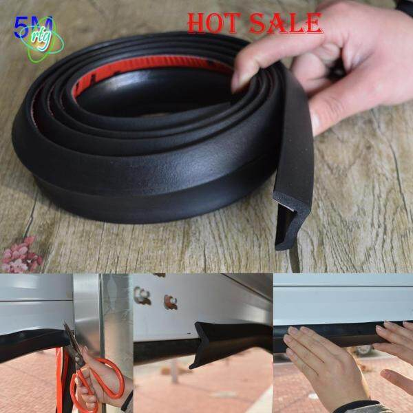RTG 5m Garage Door Bottom Weather Stripping Rubber Seal Strip Replacement Door Bottom Seal Tool