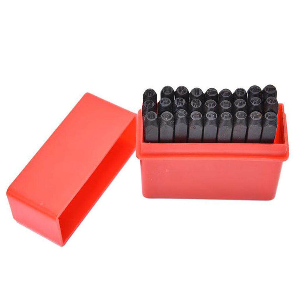 3mm Fenteer Durable 9pc Steel Numbers Letter Stamp Punch Set Metal Security Marking Tool 3mm 4mm 5mm 6mm 8mm 10mm