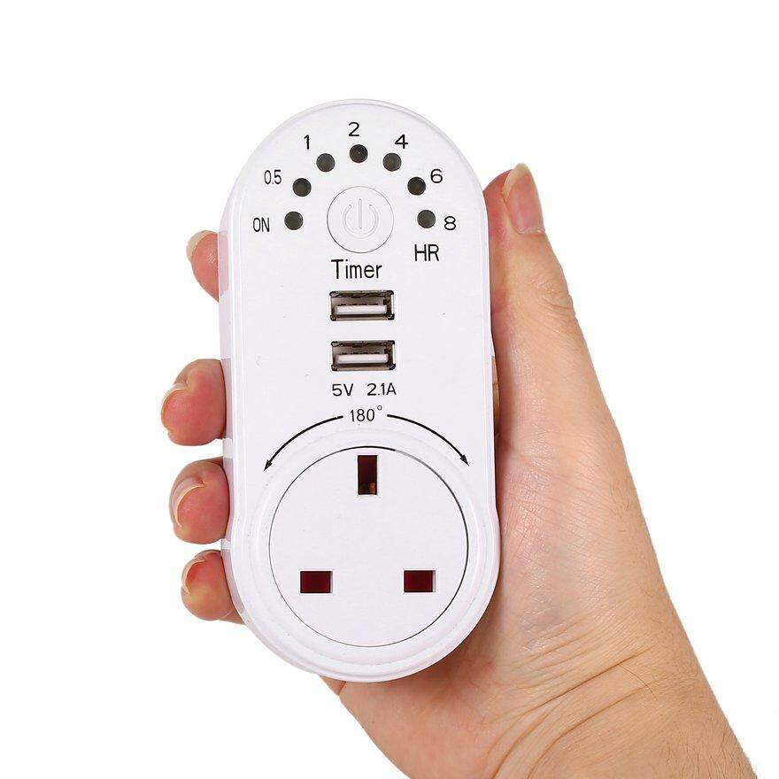 ANEXT USB 5V 2.1A Timer Switch Socket Outlet Plug-in Time Controller Countdown