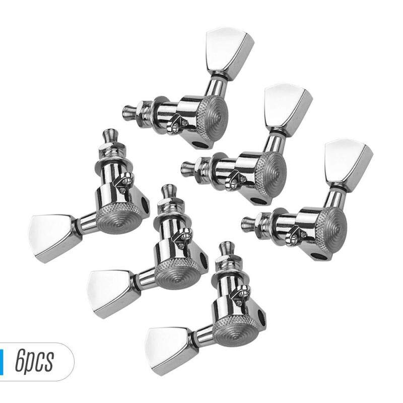 6 Pieces 3L3R Guitar String Tuning Pegs Locking Tuners Machine Heads Knobs for Acoustic Electric Guitars Replacement Accessories with Mounting Screws and Ferrules Silver Malaysia