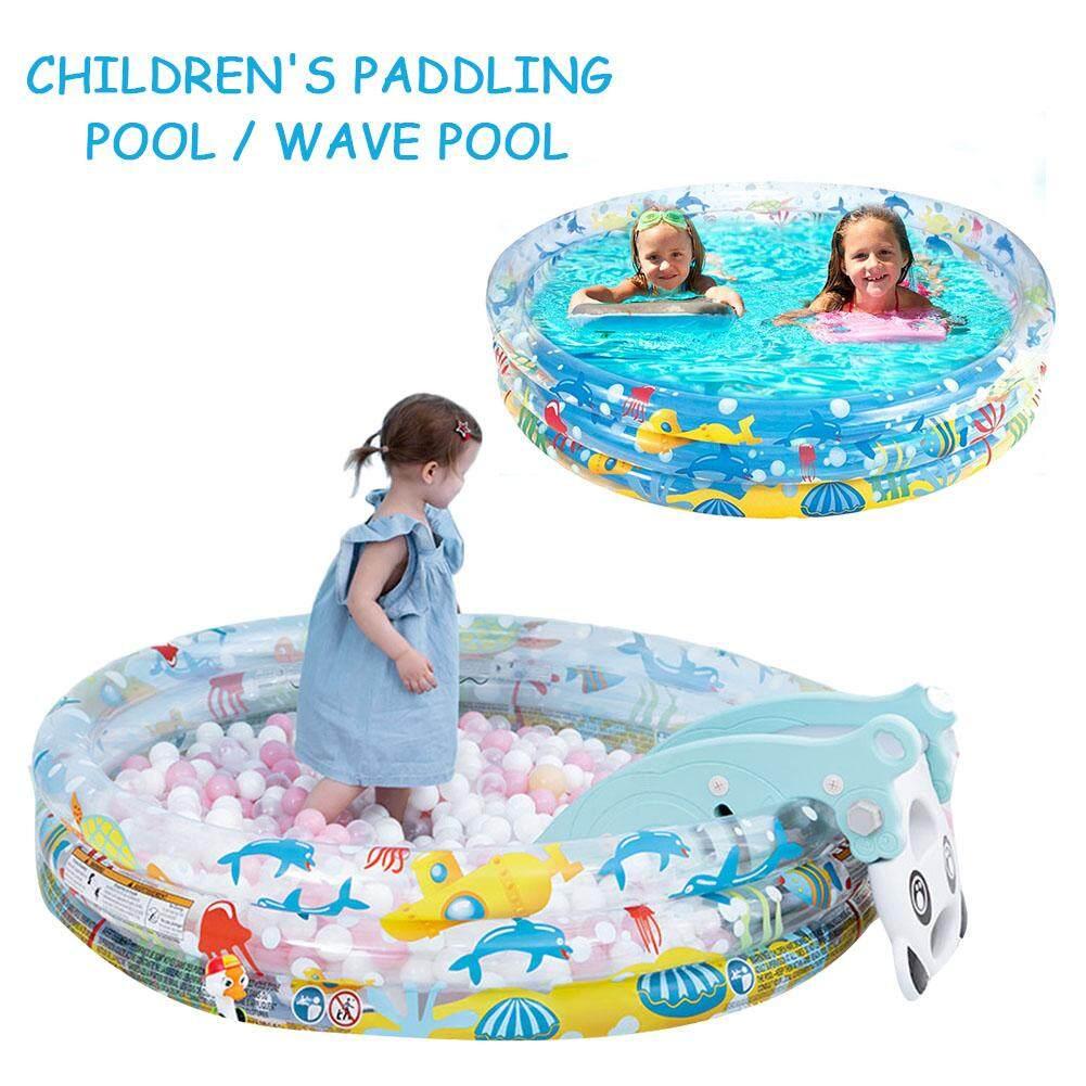 152*30CM Kids Inflatable Swimming Pool Marine Ball Pool Hard Rubber Round Infant Tub