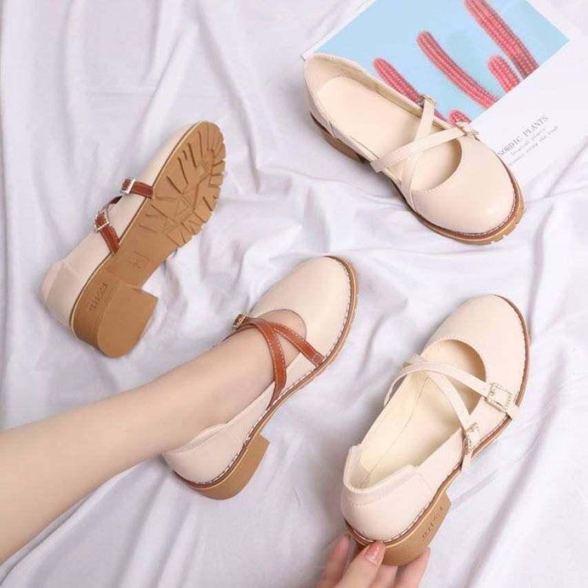Vintage Mary Janes Giày Nữ Nữ Giày Giày Đi Học Giày Búp Bê Cho Phụ Nữ Giày Ba-lê Đế Bằng Cho Phụ Nữ Trên Doanh Số Bán Hàng 110929 giá rẻ