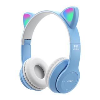 Tai Nghe SZC P47 Tai Nghe Không Dây Hình Tai Mèo Phát Sáng Bluetooth 5.0, Cho Du Lịch thumbnail