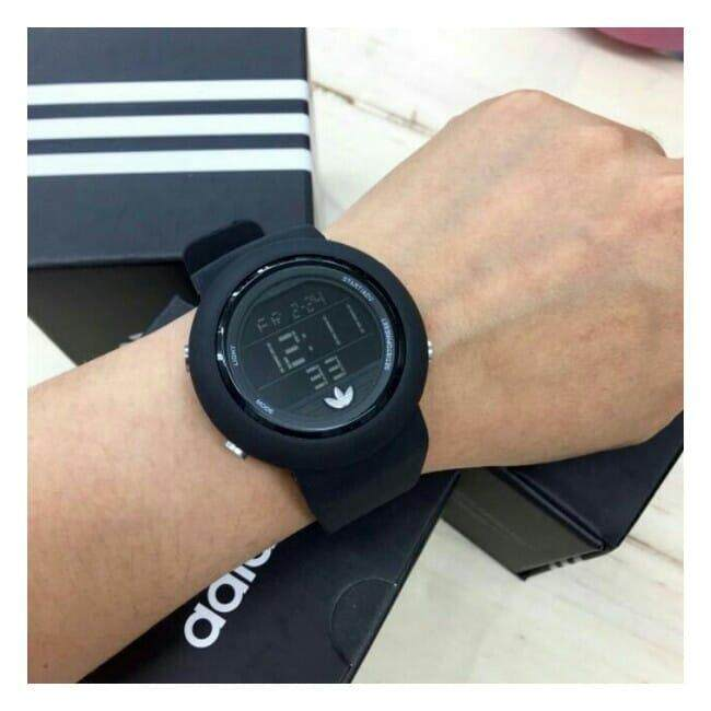 Adidas Sport Watch For Men Women (Full Black) Malaysia