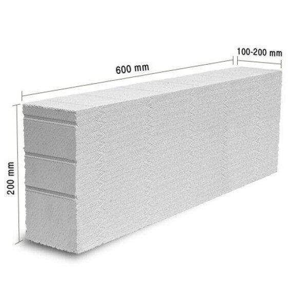 STARKEN Light Weight Block 600 x 200 x 100mm Blocks Bricks Batu Ringan