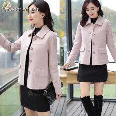 Áo khoác dạ dành cho nữ dáng ngắn thời trang Hàn Quốc