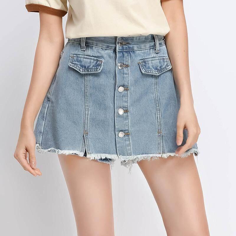 New Shorts Jeans Women Summer High Waist Mini Skirts Lady Fashion Button Shorts Denim Pants